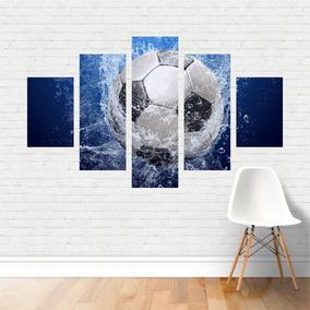 Quadro Esportes Futebol De Campo Football Água Bola Canvas