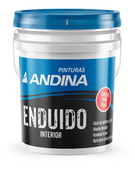 Enduido Interior Blanco Para Obra 30kg Andina - Prestigio