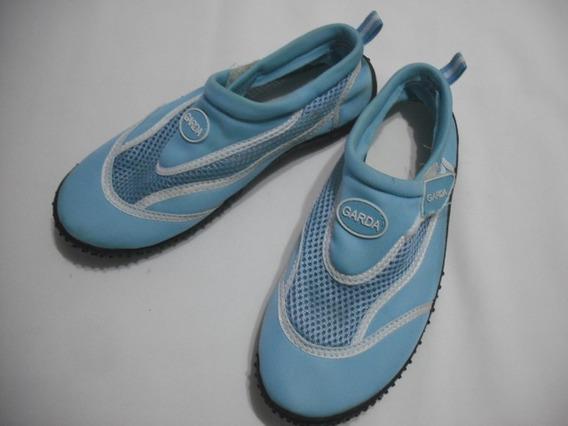 Tenis Azul Feminino Garda 35 Usado Bom Estado