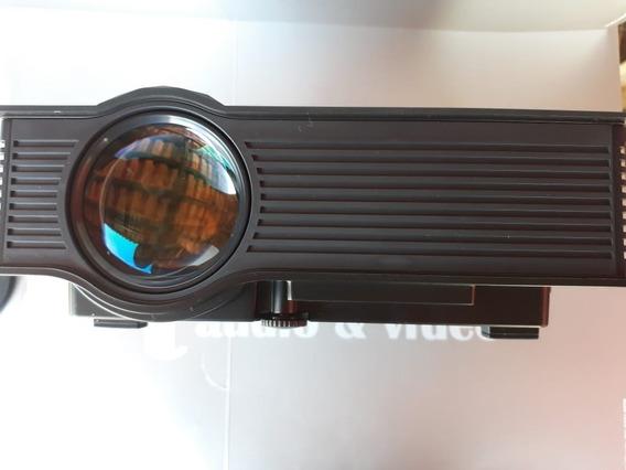 Mini Projetor Led Uc46 - 1200 Lumens +cabo Hdmi 2m