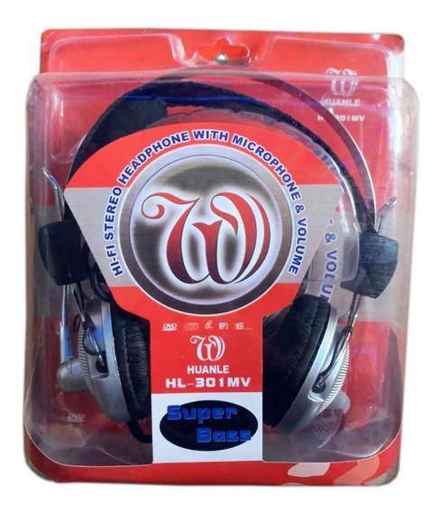 Fone De Ouvido / Pc Headset Com Microfone - Gamer E Casual