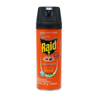 Insecticida Raid Casa Jardin Aerosol 250 Ml Scj-659996 C/24