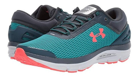 Tenis Under Armour Ua Charged Intake 3 Caballero Teal Rush