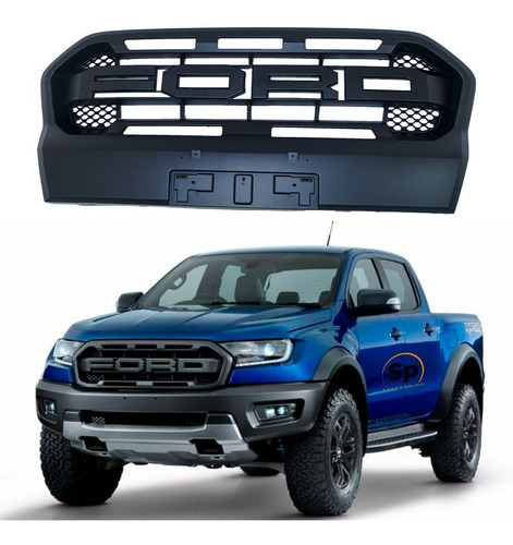 Parrilla Frontal Para Ford Ranger 2017 Tipo Raptor Completa