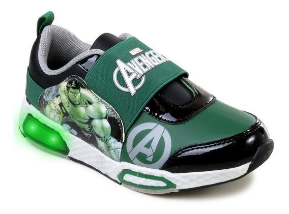 Zapatillas Marvel Hulk Bruce Banner Niños Luces Elástico