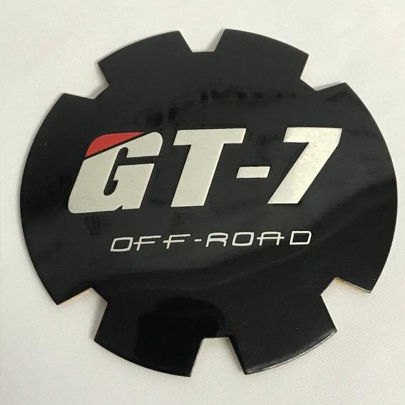 Jogo 4 Emblema Gt7 Off Road Roda Strong Raptor 85mm Adesivo