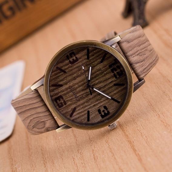 Relógio Imitação Madeira Unissex Ótimo Acabamento M2