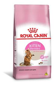 Ração Royal Canin Kitten Sterilised Castrados Gatos Filhotes