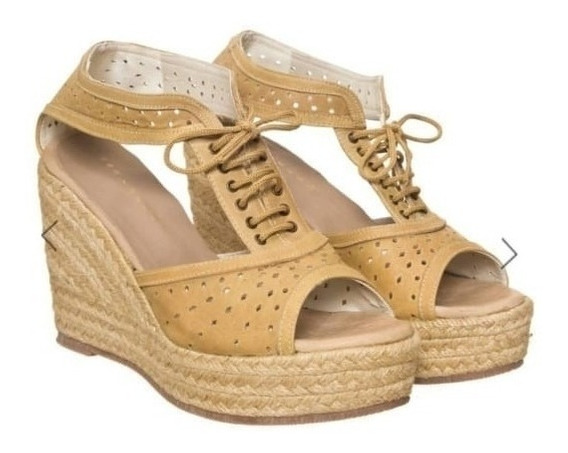 Sandalias Mary Joe Taco Chino Con Cordones
