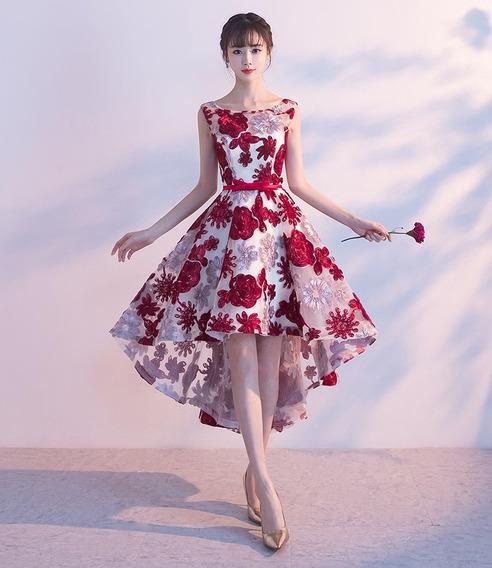 Nuevo Elegante Vestido Flores Lindo De Lujo Novia
