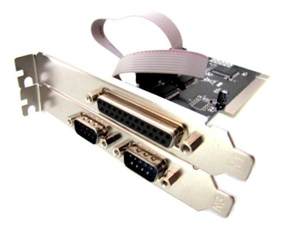 Placa Pci Serial Paralela Multiserial 2 Rs232 + 1 Db25 Lpt