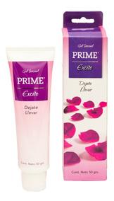 Gel Prime Excite Lubricante Placer Femenino Sensual 50gr