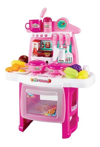 Kit Cozinha Infantil 29 Peças Com Fogão Forno Pia Completo