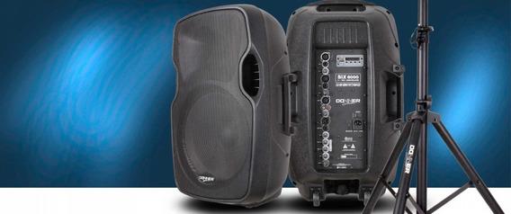 Caixa Som Amplificada Donner 300 Watts 15 Pol. Six6000 Usb/fm/bluetooth - Brinde Pedestal