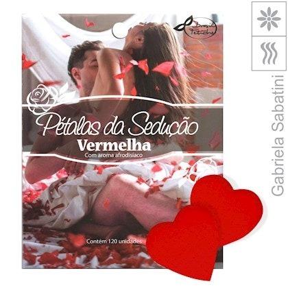 Pétalas Da Sedução Coração Vermelho 120 Un - Gabriela