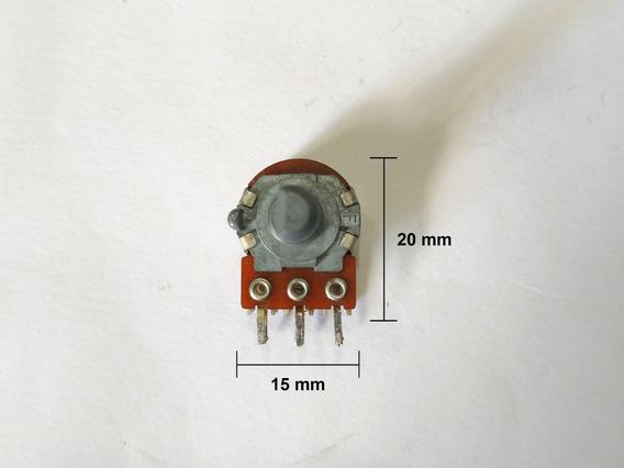 Potenciômetro Grande Duplo Sem Derivação 100k B X 2 Liso