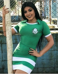 Vestido Curto Casual Torcedora Times Futebol Brasileiro Top