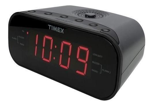 Radio Reloj Despertador Timex Doble Alarma Baterias