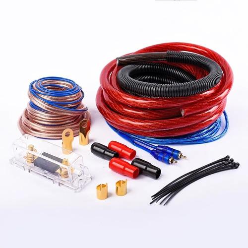Imagen 1 de 2 de Kit Cables Instalación Potencia 0 Gauge Reales Sub Woofer