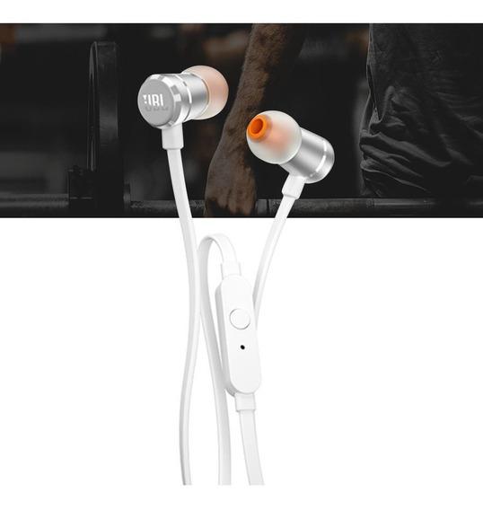 Fone De Ouvido Jbl T290 Prata In Ear Com Microfone
