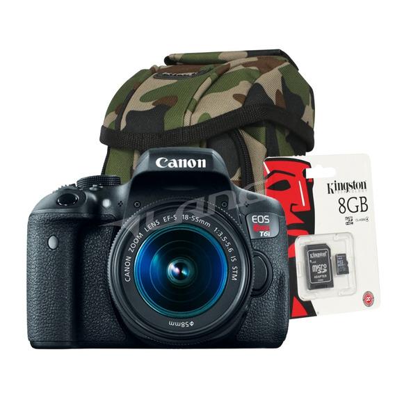 Camara Canon T7i Digital Reflex Kit 18-55 Full Hd Cuotas