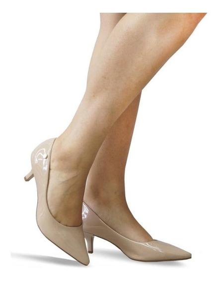 Sapato Feminino Scarpin Vizzano Salto Baixo Bico Fino 1122.628