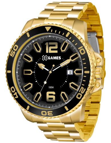 Relógio X-games Masculino Xmgs1019 P2kx Preto Dourado