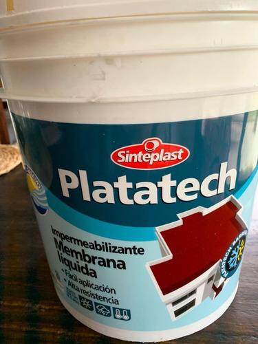 Impermeabilizante Membrana Liquida Platatech 20+4 Kg