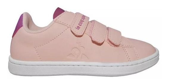 Zapatillas Niñas Le Coq Courtset Rosa - Escolar