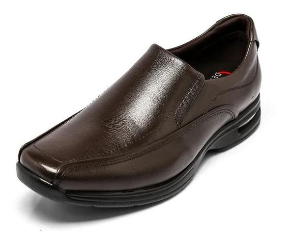 Zapato Mocasin De Cuero Democrata Hombre Air Spot 448023