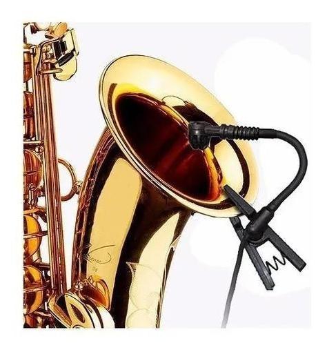 Microfone Sennheiser Instrumento Sopro Black Bug Mu500 Novo
