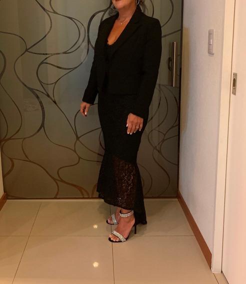 Vestido De Fiesta Negro . Estilo Sirena