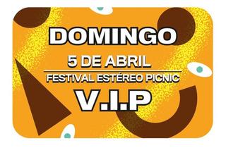 Boleta Vip Día Domingo Festival Estéreo Picnic 2020