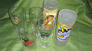 Vasos Vidrio Publicidad De Colección Precio X Cada Uno