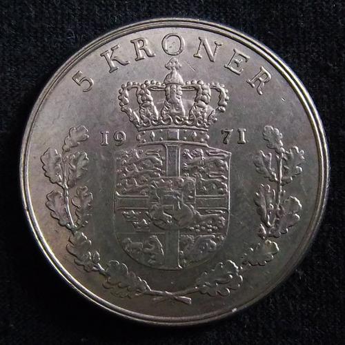Dinamarca 5 Coronas 1971 Exc Km 853.1