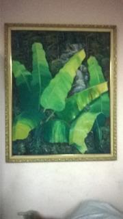 Cuadro Platanal Pintura Al Oleo De Afamado Pintor Oriental