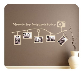 Adesivo Papel De Parede Porta Retrato Momentos Inesquecíveis