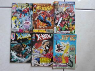 Homem Aranha X-men E Outros Abril 6 Hqs Por 19 Reais