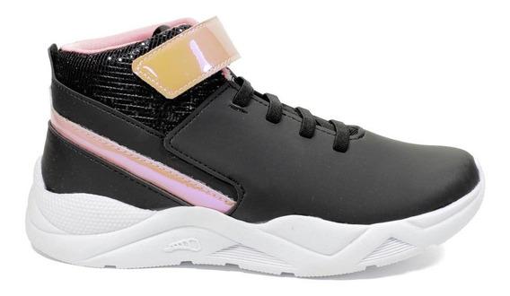 Tênis Infantil Pé Com Pé Sneaker Menina - Preto 92501-050