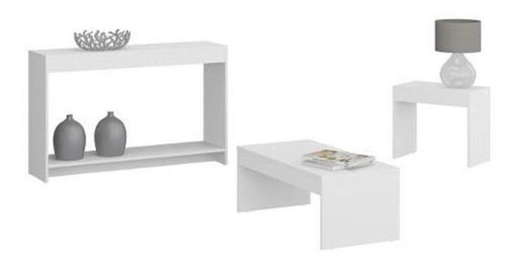 Mueble Mesa Centro + Aparador + Mesa Lateral Combo 731.0003