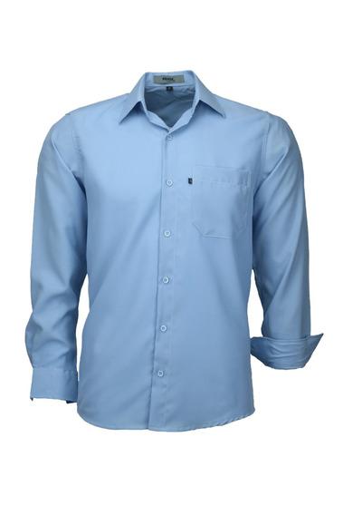 Camisa Microleve Manga Longa - Azul Bebê - Ref 832
