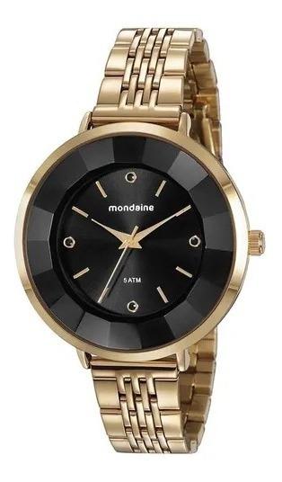 Relógio Mondaine Dourado C/ Preto, 76718lpmvde3