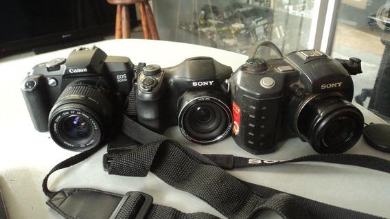 Cameras Canon Eos 5000 Sony Mavica Dsc H100 Com Defeito