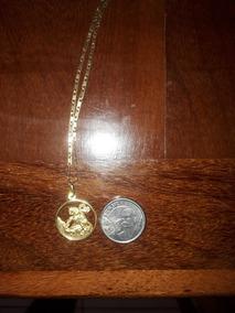 Corrente De Ouro 18k + Pingente São Jorge Ouro 18k