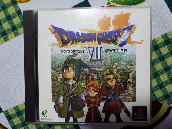 Dragon Quest Vii 7 Original Playstation One Ps1 Psx D7
