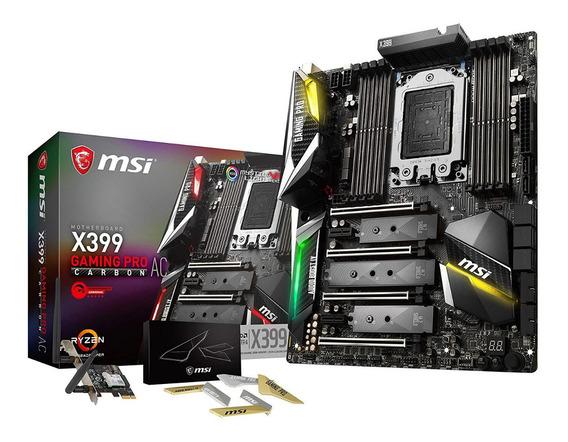 Placa Mae Msi Gaming Amd Threadripper Carbon Ac Str4 X399