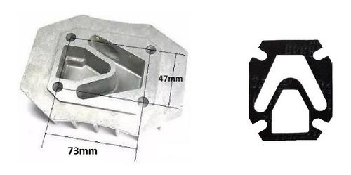 Tapa De Cilindro Compresor 50lts Agujeros 72*48mm Con Junta
