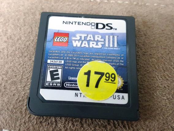Nintendo Ds - Lego Star Wars Iii Clone Wars (sem Caixa)