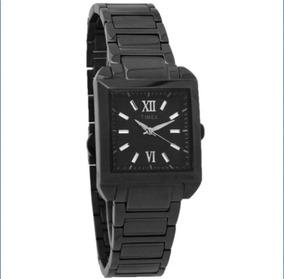 9c04ff9eeed8 Timex T2p406 Reloj De Cuarzo Cuadrado De Acero Inoxidable.