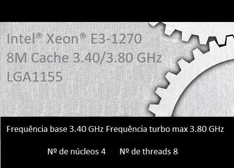 Xeon E3-1270 Soquete 1155 2 E 3 Geração